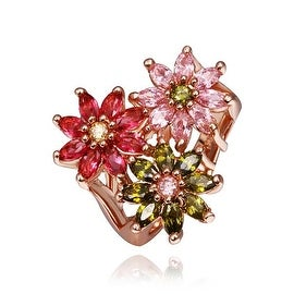 Rose Gold Plated Blossoming Floral Ring