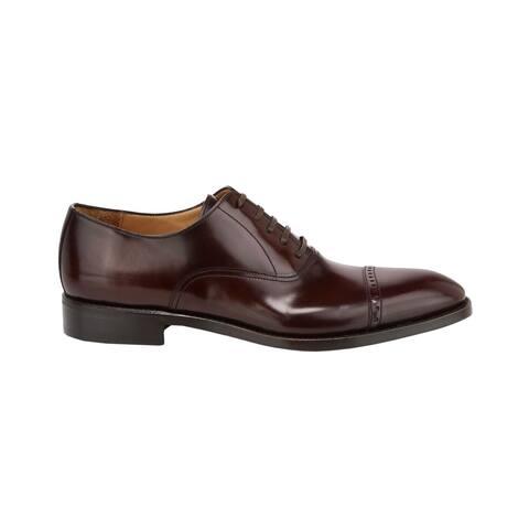 Paul Stuart Mens Hartford Perforated Tip Balmoral Oxfords Shoes Cordovan