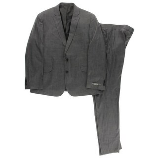 Kenneth Cole Reaction Mens Two-Button Suit Notch Lapel Formal - 46S