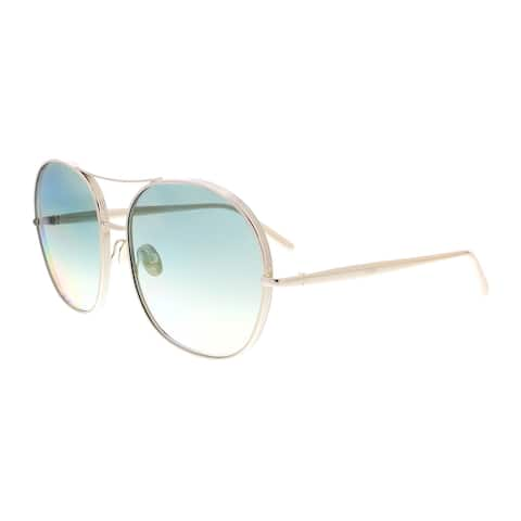 7f716d9377cb8 Chloe CE128S 733 Gold Square Sunglasses - 61-18-135