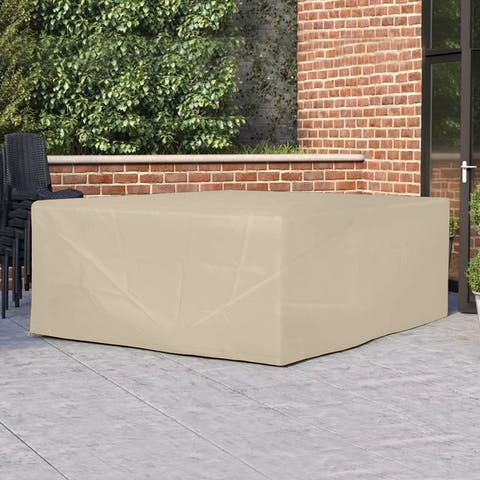 """90.5"""" Large Square Patio Seat and Dining Table Set Cover by Direct Wicker"""