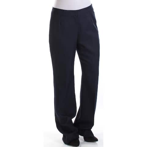 LE SUIT Womens Navy Straight leg Wear to Work Pants Size 4