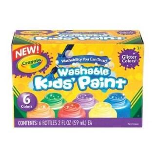 Crayola 54-2400 Washable Paint 6-Color Glitter Set