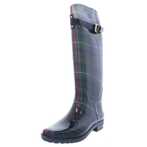 0d0dedc345a Shop Lauren Ralph Lauren Womens Rossalyn II Rain Boots Buckle Rubber ...