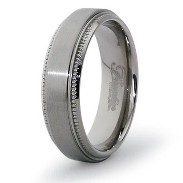 6.5mm Polished Titanium Ring (Sizes 7-12)