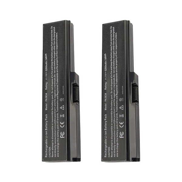 Replacement For Toshiba PA3817U-1BAS Laptop Battery (5200mAh, 10.8V, Lithium Ion) - 2 Pack