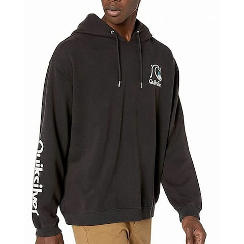 Quiksilver Men Sweet As Slab Hoodie Wash Black Medium M Embroidered Logo
