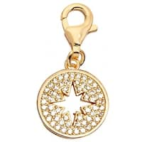 Julieta Jewelry Starburst CZ Clip-On Charm