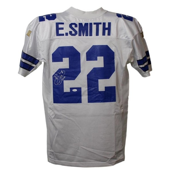 d7601a62828 Shop Emmitt Smith Autographed Dallas Cowboys Wilson 46 White Jersey JSA -  Free Shipping Today - Overstock - 21870748
