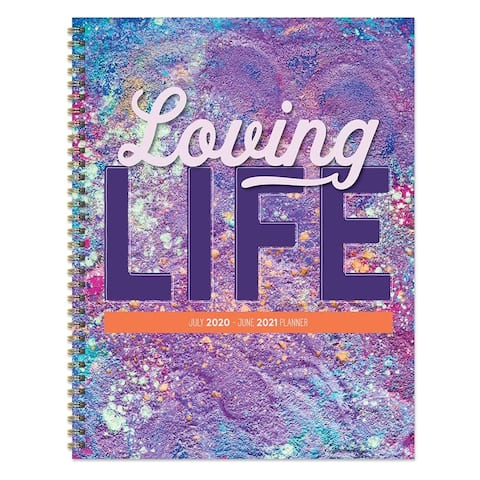 July 2020-June 2021 8.5x11 Large Daily Weekly Monthly Loving Life Spiral Planner with Stickers