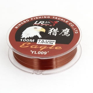 Unique Bargains 109Yds/100M 0.45mm 44.7 lbs Nylon Spool Fishing Line