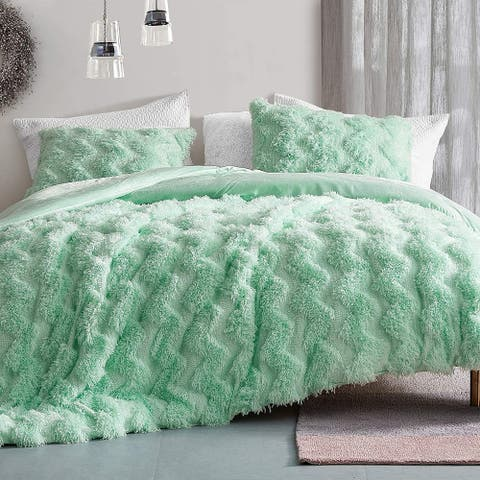 Chevron Birds of a Feather - Coma Inducer® Oversized Comforter - Honeydew