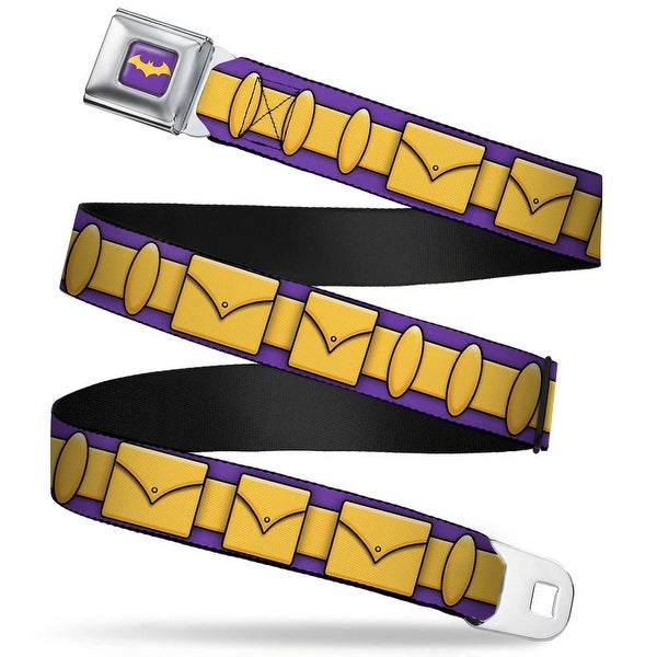 Bat Logo Full Color Purple Gold Batgirl Utility Belt Purple Gold Seatbelt Belt