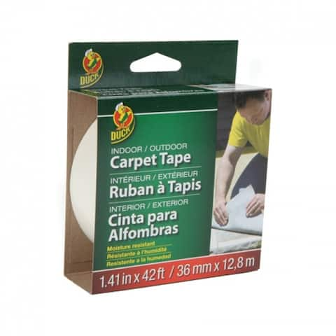 """Duck 392907 Fiberglass Indoor/Outdoor Carpet Tape, 1.41"""" x 42'"""
