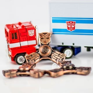 Fidget Spinner - Transformers - Autobot - Relieves Anxiety and Boredom - bronze