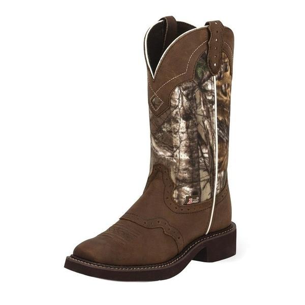 Justin Western Boots Womens Raya Camo Cowboy Leather Gypsy L9609