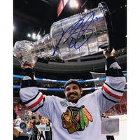 Brent Sopel Blackhawks 2010 Stanley Cup Trophy 8x10 Photo