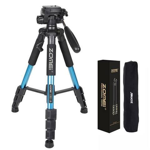 """ZOMEI Q111 55"""" Professional Aluminum Alloy Camera Tripod"""