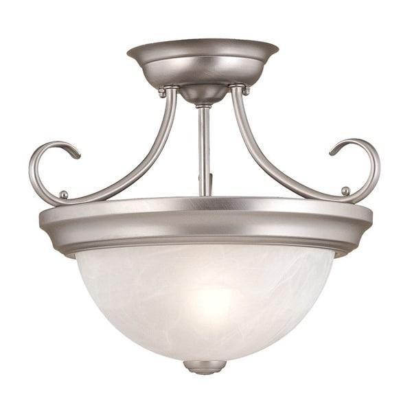 Millennium Lighting 5031 2-Light Semi-Flush Ceiling Fixture - Satin Nickel - N/A