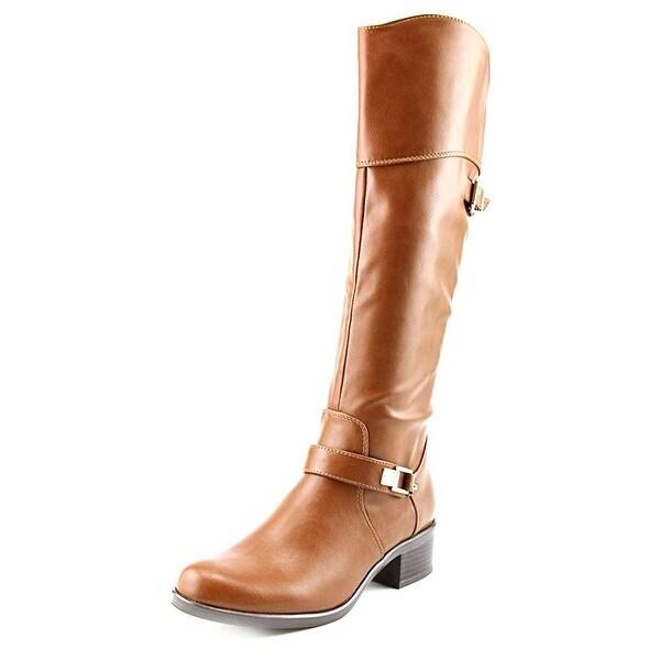 Alfani Womens Fidoe Leather Almond Toe Knee High Riding Boots