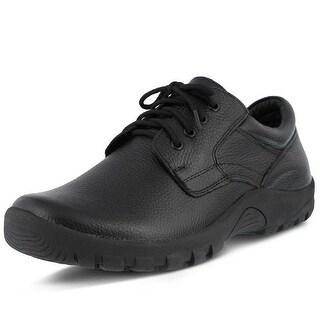 Spring Step Mens Berman Oxford - Black leather