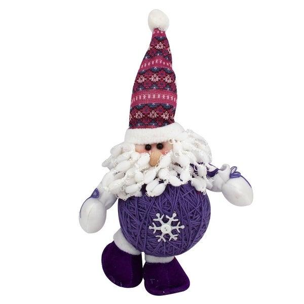 Unique Bargains Santa Claus Shaped Christmas Toy Doll Purple White for Xmas Trees Gift Decor