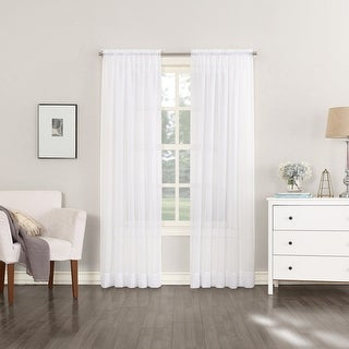 Link to No. 918 Emily Voile Sheer Rod Pocket Curtain Panel Similar Items in Window Treatments