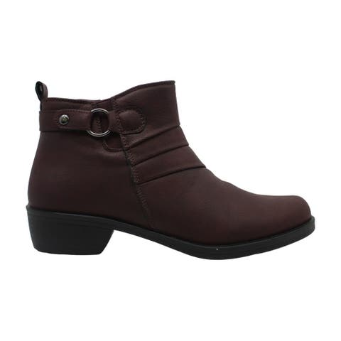 Easy Street Womens Leather Closed Toe Ankle Fashion Boots