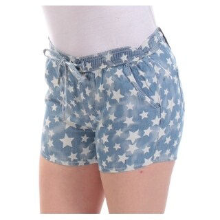 Womens Blue Star Cropped Short Size 2XS