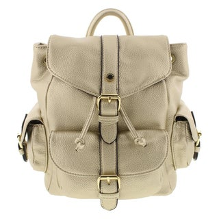 CXL by Christian Lacroix Womens Jeanne Backpack Faux Leather Pebbled