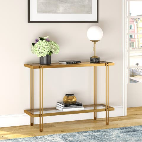 Inez Console Table in Brass Finish