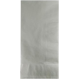 """Club Pack of 600 Shimmering Silver Premium 2-Ply Disposable Dinner Napkins 8"""""""