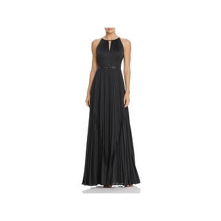 Adrianna Papell Womens Formal Dress Beaded Pleated