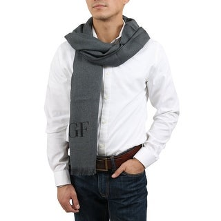 Gianfranco Ferre SCR 01783 GF1 Grey Mens' Oversized Scarf - 33-76