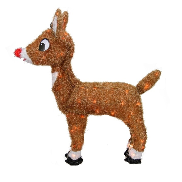 """26"""" Pre-Lit Rudolph the Red-Nosed Reindeer Christmas Outdoor Decoration - Clear Lights"""