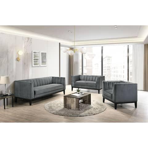 Picket House Furnishings Calabasas 3PC Living Room Set in Light Grey