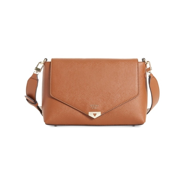 a0997155060f Shop Guess Womens Lottie Shoulder Handbag Faux Leather Envelope - small -  Free Shipping Today - Overstock - 23548651