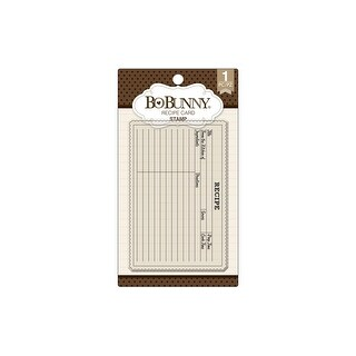 Bo Bunny Essentials Stamp Recipe Card