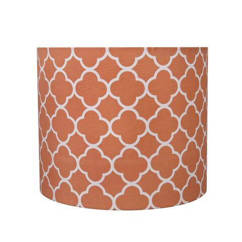 "Aspen Creative Drum (Cylinder) Shaped Spider Construction Lamp Shade in Orange (12"" x 12"" x 10"")"