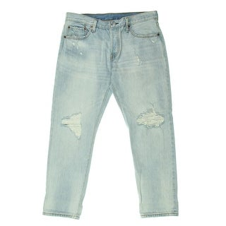 Levi's Womens 501 Destroyed Original Fit Tapered Leg Jeans