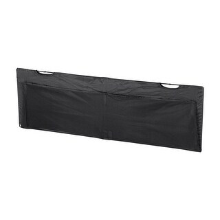 Monoprice Desk Cover Modesty Panel - 4 Feet - Black With Wire Management - Workstream Collection