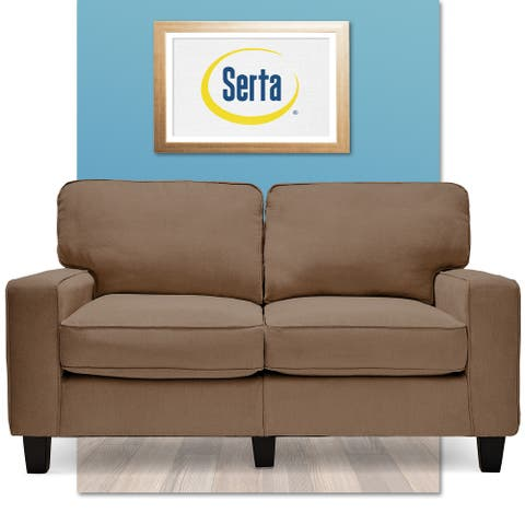 "Serta RTA Palisades Collection 61"" Loveseat in Kingston Tan"