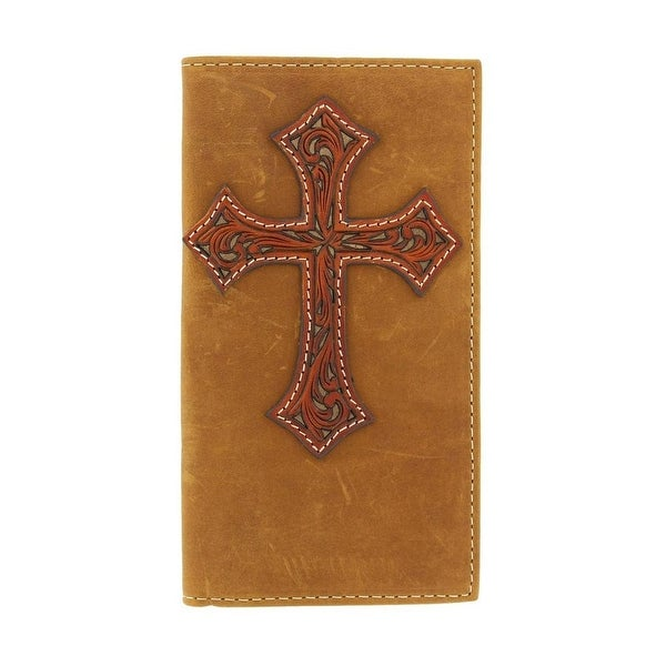 Nocona Western Wallet Mens Leather Rodeo Tooled Cross Saddle - One size