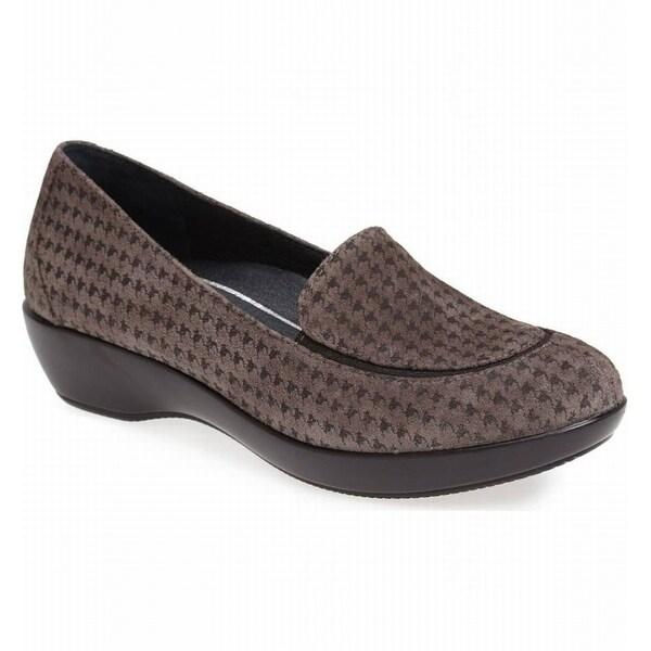 Dansko NEW Gray Women Shos Size 6M Debra Houndstooth Suede Loafer