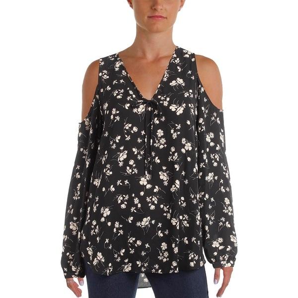 edbfa57896 Shop Lauren Ralph Lauren Womens Blouse Floral Print Cold Shoulder - Free  Shipping On Orders Over  45 - Overstock.com - 22532551