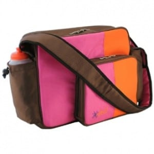 O Yikes! Messenger Bag, Tangerine and Raspberry - 12.0 in. x 15.0 in. x 4.0 in.