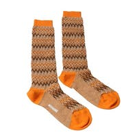 Missoni GM00CMD5222 0005 Orange/Tan Knee Length Socks