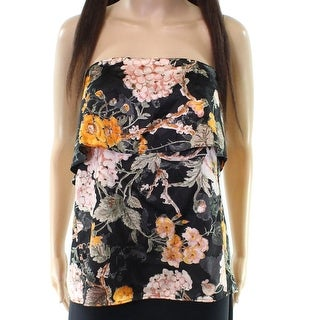 WAYF Women's Small Floral Popover Strapless Blouse