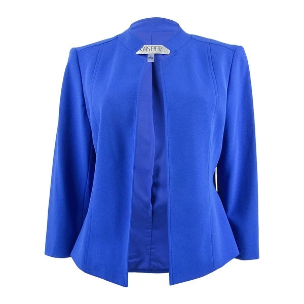 Kasper Women's Crepe Flyaway Jacket - Royal. Opens flyout.