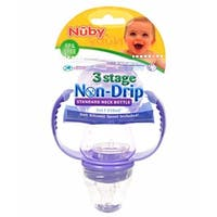 Nuby 3 Stage Non-Drip 7-oz Standard Neck Bottle - multi